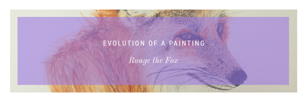 Rouge the Fox painting