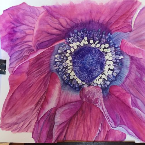 Adding final touches to overall flower