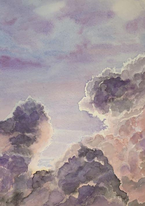 Storm clouds study