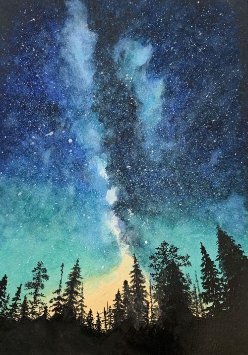 Galaxy night sky SOLD