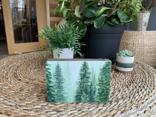 Barn wood blocks forest collection