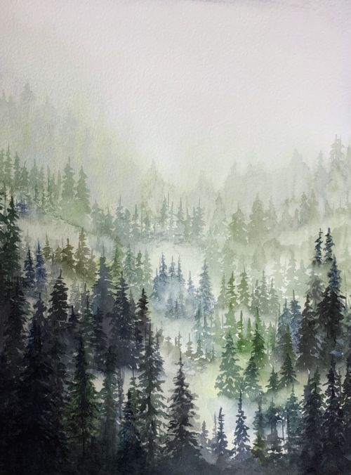 Misty Mountainside 1 - SOLD