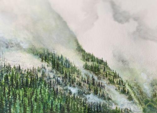 Misty Mountainside of BruIe II SOLD